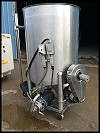 Stainless Steel Mix Tank with Side Agitator - 100 gallons