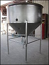 Stainless Steel Cherry-Burrell Mixing Tank - 300 Gallons