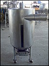 Stainless Steel Cyclone Tank with Airlock - 60 Gallons