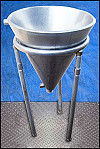 Jacketed Stainless Steel Funnel Tank – 10 Gallon