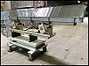 Eriez Stainless Steel Vibratory Conveyor on Lift Cart