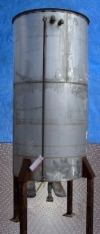 Stainless Steel Single Shell Vertical Tank- 500 Gallon